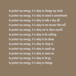 to protect my energy